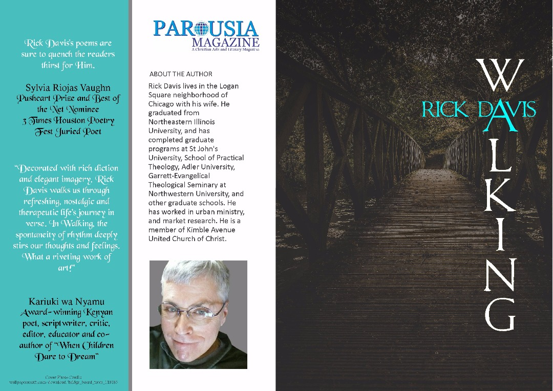 WALKING by Rick Davis Christian Poetry Chapbook published on PAROUSIA Magazine