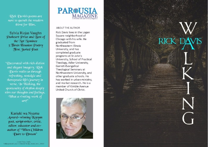 WALKING by Rick Davis Christian Poetry Chapbook published on PAROUSIA Magazine