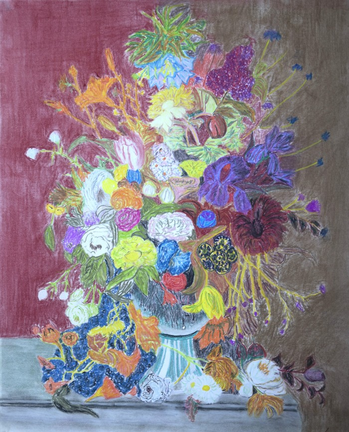 Abundance, Pastels, 18x25 on specialty paper