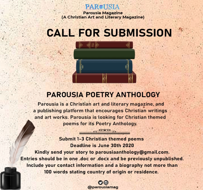 call for submissions poetry parousia